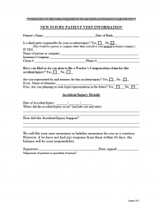 New Injury Patient Form